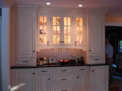 custom cabinets built with recessed lighting in modern home in - Built In Cabinets For Kitchen