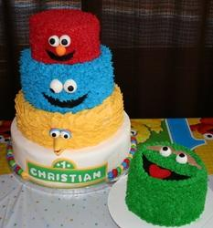 Sesame Street First Birthday From Mid Hudson Cakes In