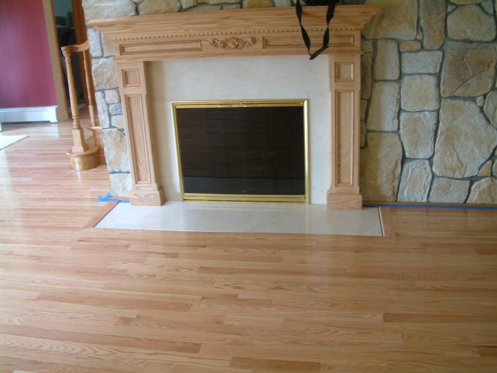 how to raise a fireplace off the floor