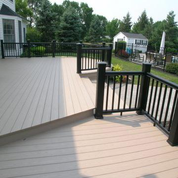 Azek Brownstone Decking With Black Timbertech Radiance