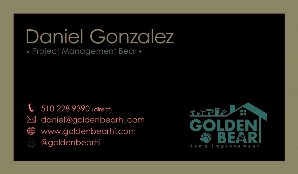 Roofing, Painting, Foundation Repair Business Card from Golden ...