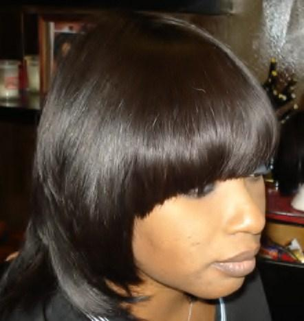 Sew in Weave Bob Hairstyles with Bangs