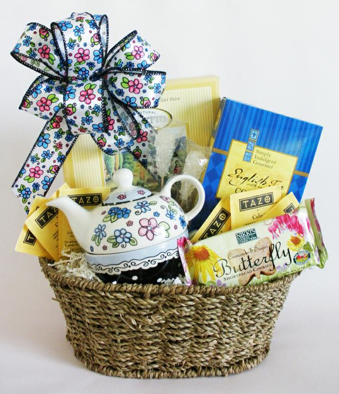 Spring Tea For One Gift Basket By Wwwdistinct Impressions