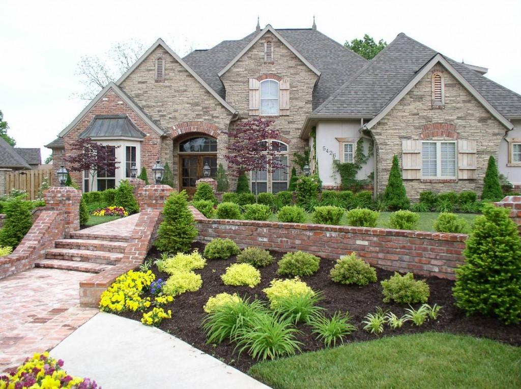 Detec easy front yard landscaping designs for Pictures of front yard landscapes