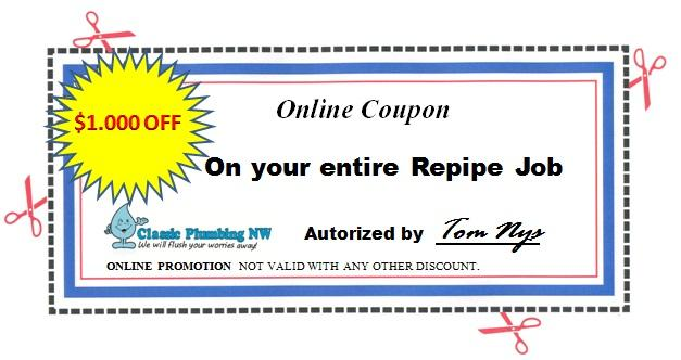 Plumbing coupons seattle