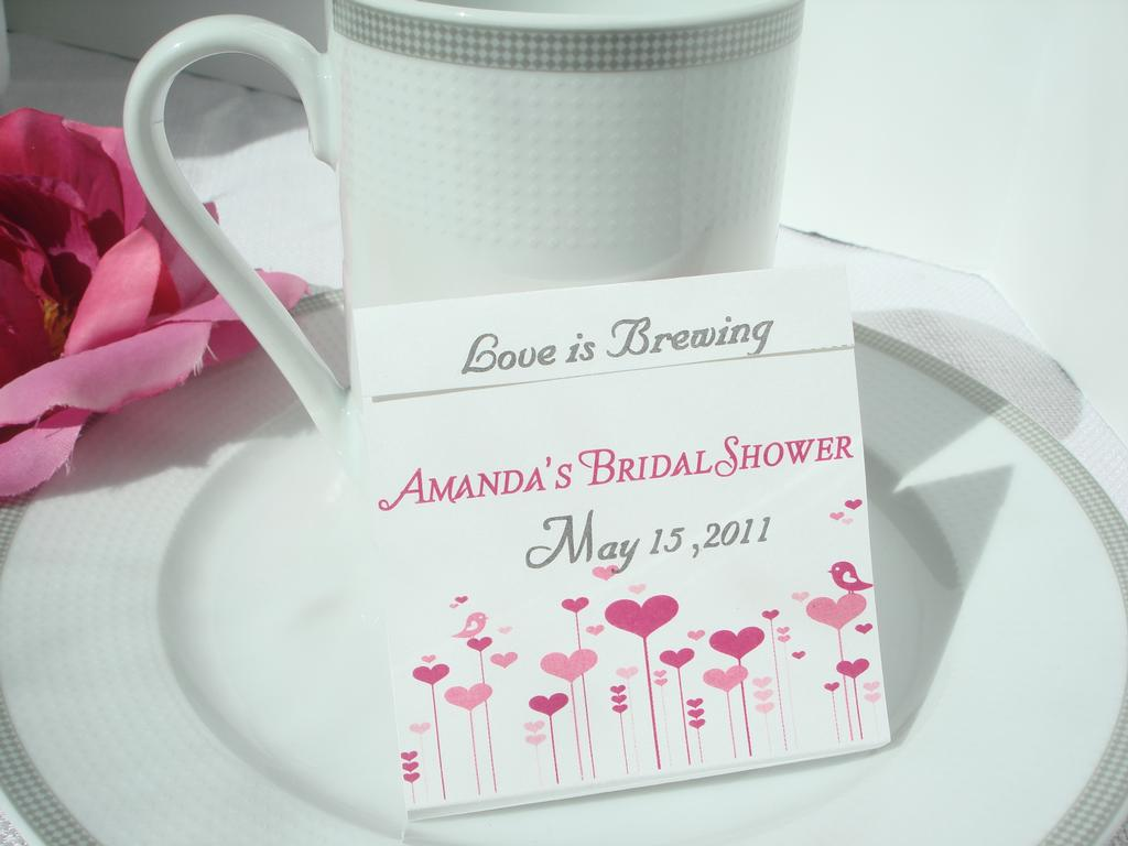 The Perfect Blend Wedding/Shower Teabag Favor from Wrappers Delites ...