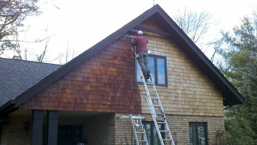 staining cedar shakes Short Hills NJ from Reliant Home Services in West Orange, NJ 07052