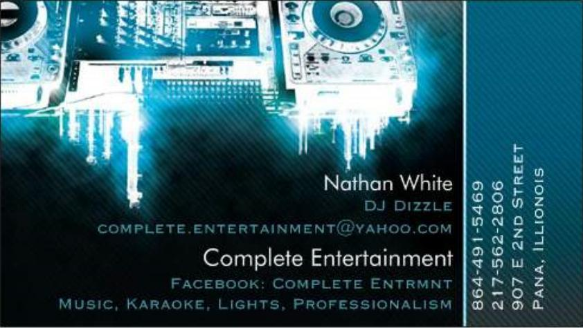 Karaoke dj business cards image collections card design and card new business card vista print from complete entertainment in by complete entertainment reheart image collections reheart Image collections