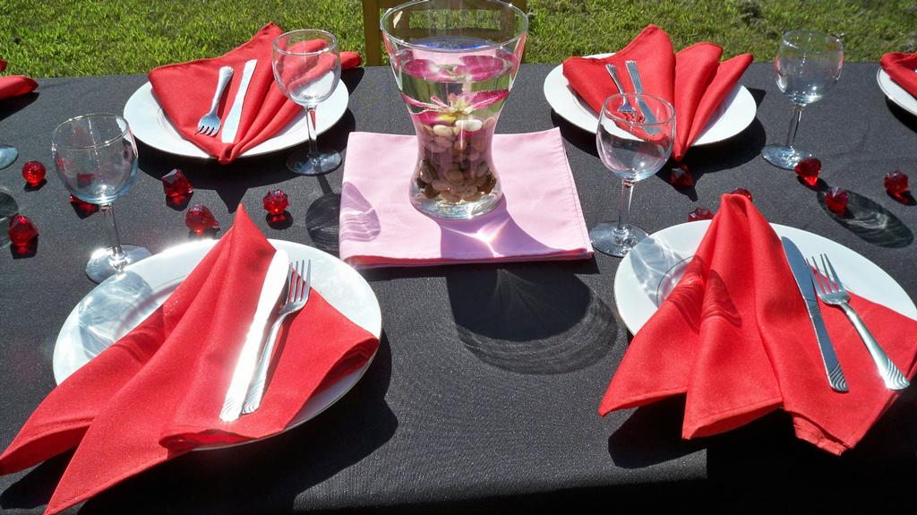 Red And Black Decor From Luna Earth Event Decor In