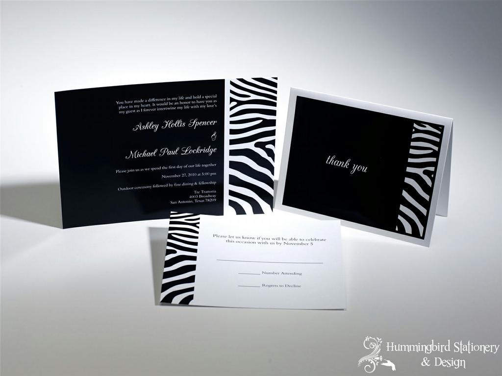 michaels wedding invitation paper michaels wedding invites Zebra Wedding Invitations Katinabags