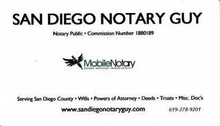 The san diego mobile notary san diego ca 92102 619 278 9201 the san diego mobile notary reheart Image collections