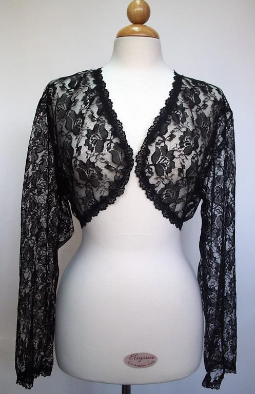 Bolero Jacket Pattern Black Lace Bolero Jacket
