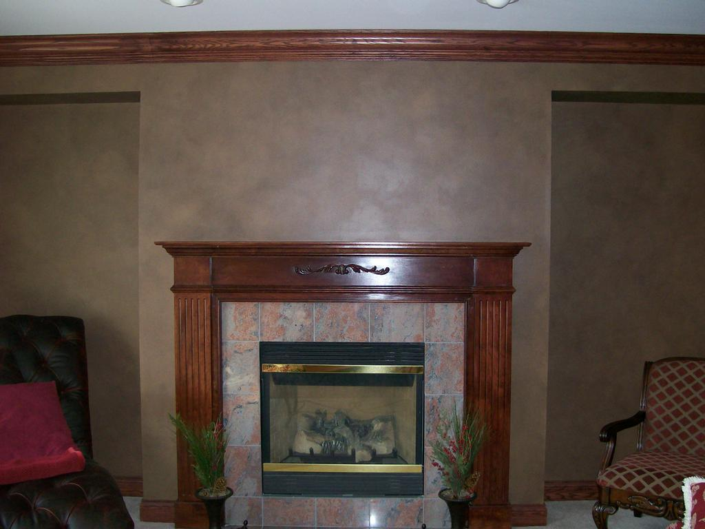 Faux Finish In Living Room From Decorative Painting By Karl In Crystal Lake Il 60012