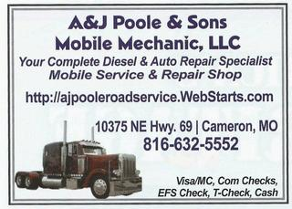 Pictures For A J Poole Sons Mobile Mechanic Llc Diesel Truck Auto