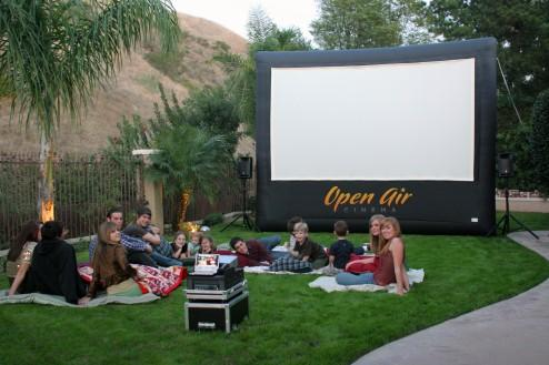 Birthday Party With 12 Home Screen From Outdoor Movie Theater And Inflatable Screens Sales Rental Buffalo In Buffalo Ny 14207