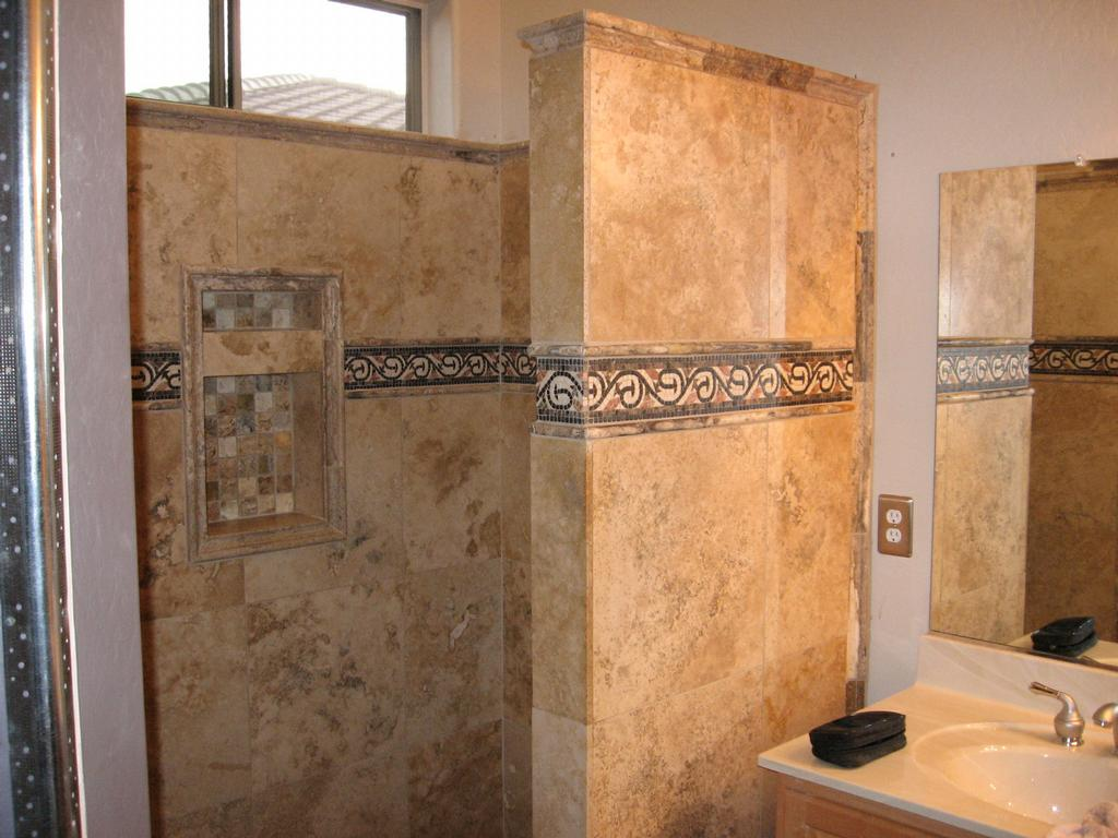Bathtub tile ideas travertine joy studio design gallery Travertine designs