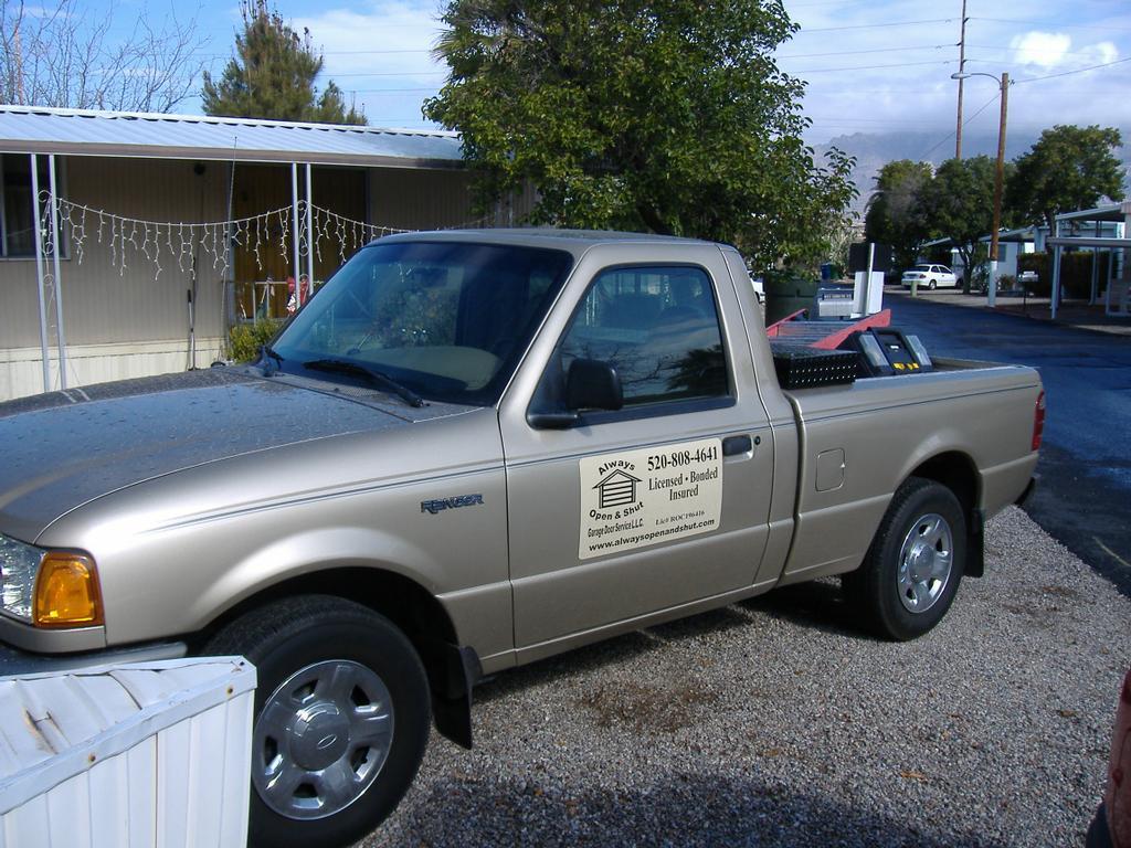 Garage For Service Trucks : Always open shut garage door service truck from