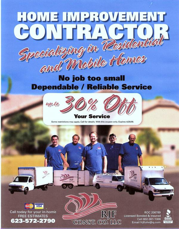 Co Flyer 2 From Rjf Construction Company Llc In Peoria