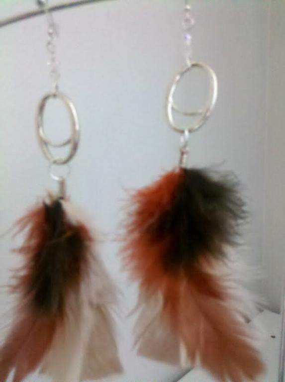 feather copper and metal by Sylvie's Creations