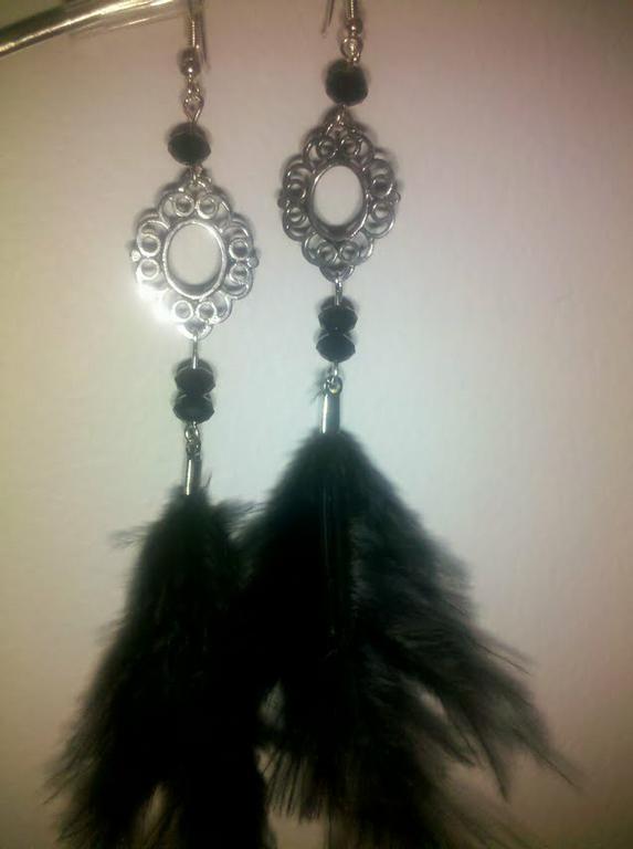 negras y flor silver by Sylvie's Creations