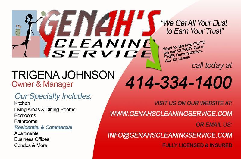 Genah S Cleaning Service Business Cards 01 Copy From Genah