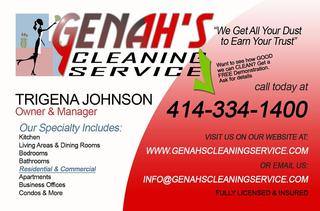 Genah's Cleaning Service Business Cards-01 copy from Genah's ...