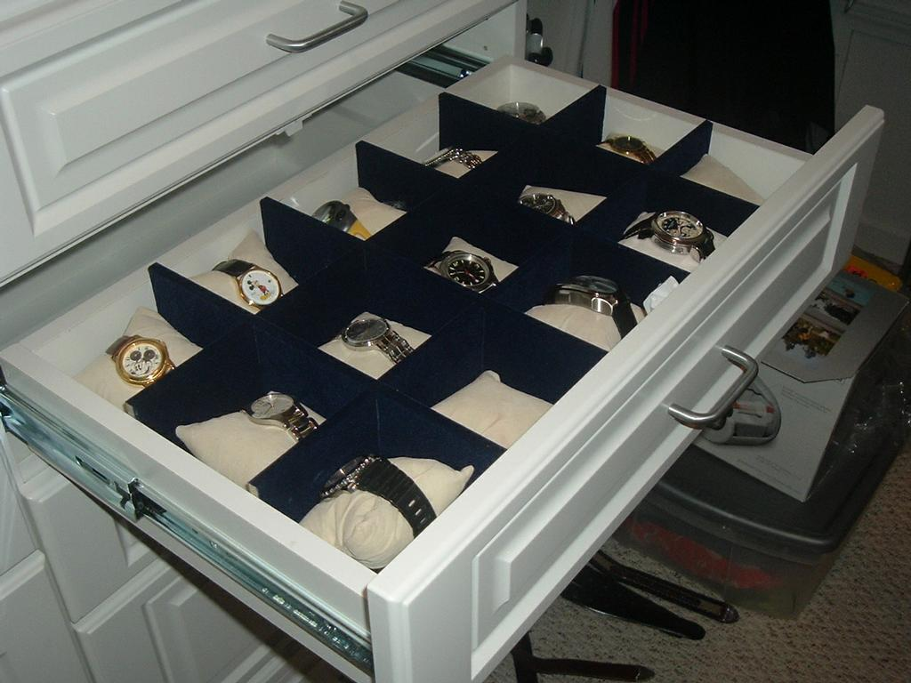 Watch Drawer From Rylex Custom Cabinetry Amp Closets In Pine