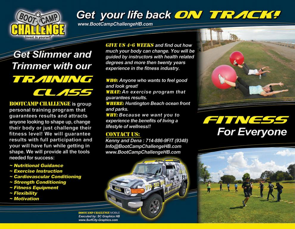 Bootcamp Challenge Brochure From Hb Boot Camp Challenge In Huntington Beach Ca 92649