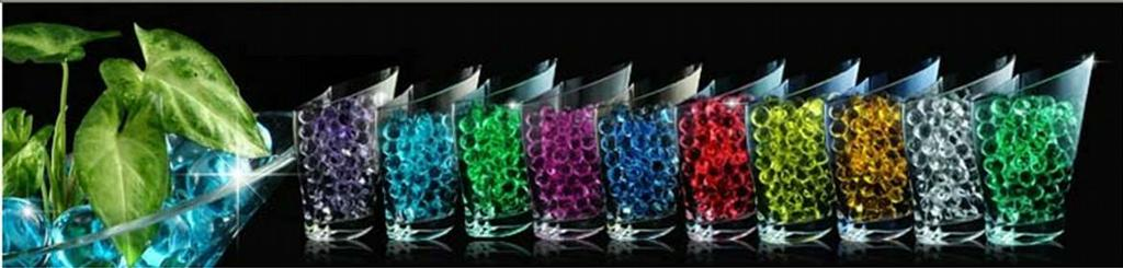 Color Bead Colored Goblets by Water Beads