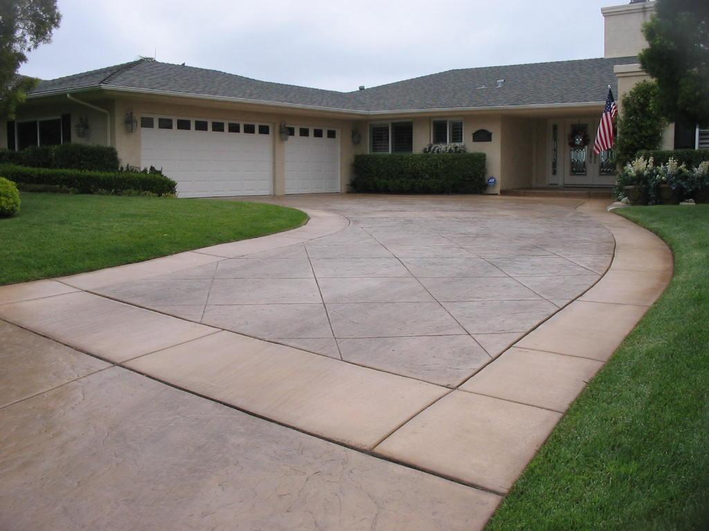 D e contreras construction san diego stamped concrete for Best way to clean concrete sidewalk