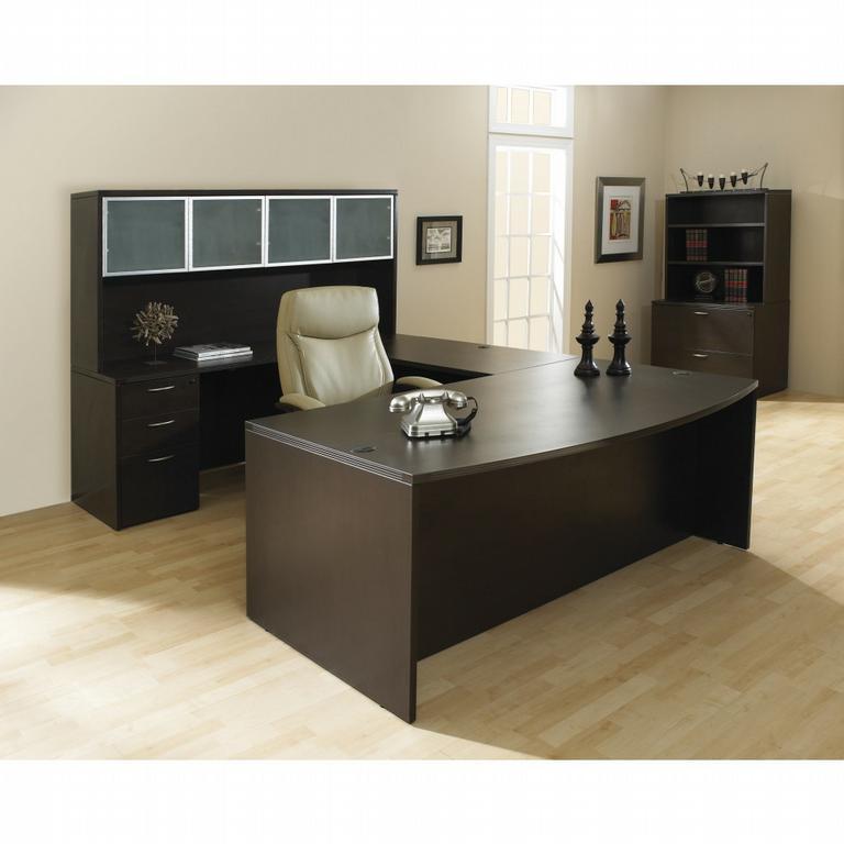 napa espresso laminate desk suite from markets west office