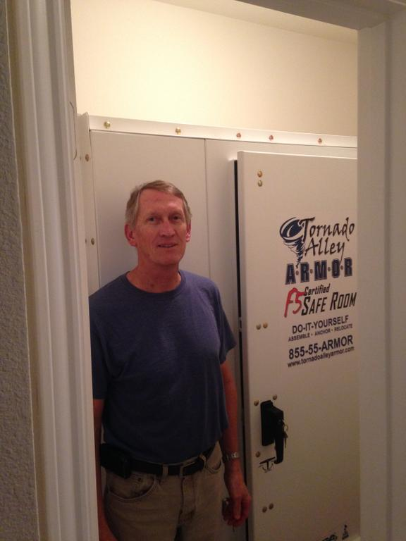 Pictures for tornado alley armor safe rooms storm for Closet safe room