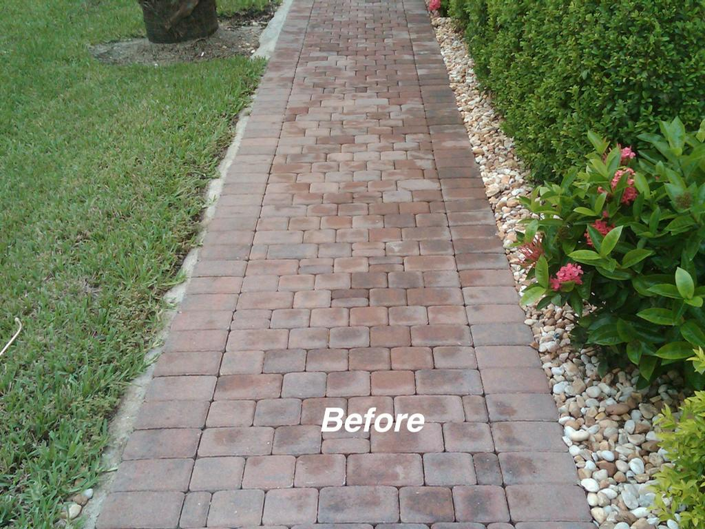 Worley Walkway Before From Paver Protectors Inc In Fort