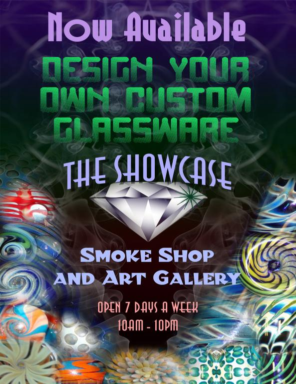 Flyer Front from The Showcase Smoke Shop in Camarillo, CA 93010