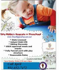 AD Tiny 1 from Tiny Hippo's Daycare & Preschool in Hemet, CA 92544