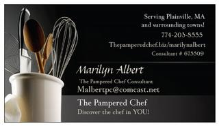 bcard from The Pampered Chef with Malbert in Plainville, MA 02762