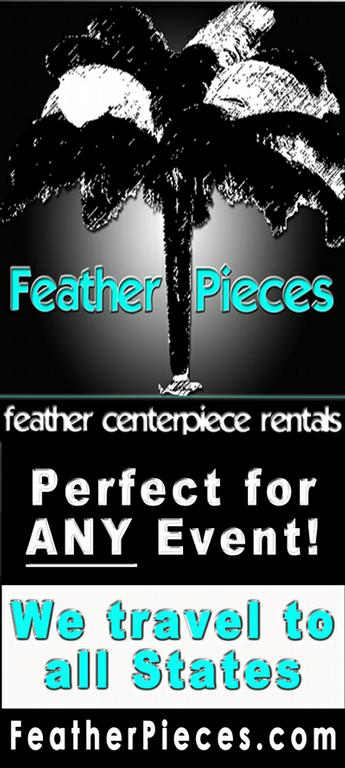 Tags ostrich feather centerpiece rentals wedding event party spandex table