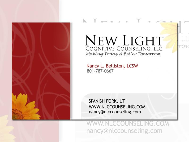 New Light Cognitive Counseling Business Card Design from