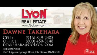 Real estate business cards for lyon real estate sacramento creating this business card for dawne takehara was a pleasure i met her at one of my agent branding sessions at the sacramento association of realtors reheart Choice Image