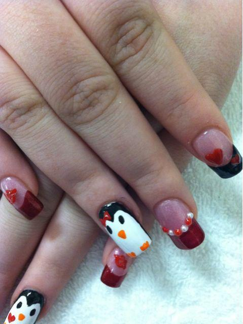 Pictures for nails by trista in las vegas nv 89120 beauty salons valentines day 3d hearts lips penguins bling las vegas nail art prinsesfo Images