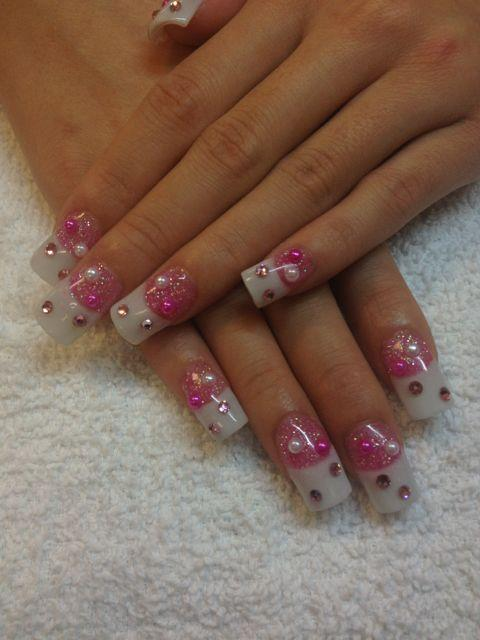 Nails las vegas beautify themselves with sweet nails las vegas nails pink and whites acrylics by 3d nail art las vegas prinsesfo Choice Image