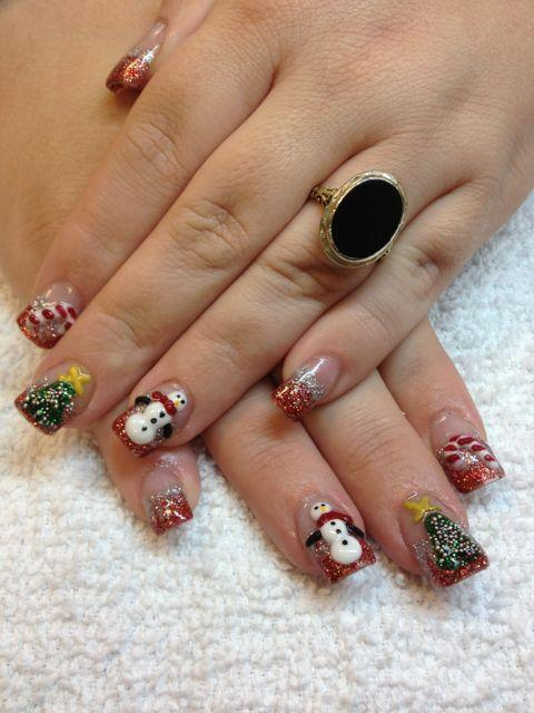 Christmas nails las vegas acrylic from 3d nail art las vegas in christmas nails las vegas acrylic by 3d nail art las vegas prinsesfo Images