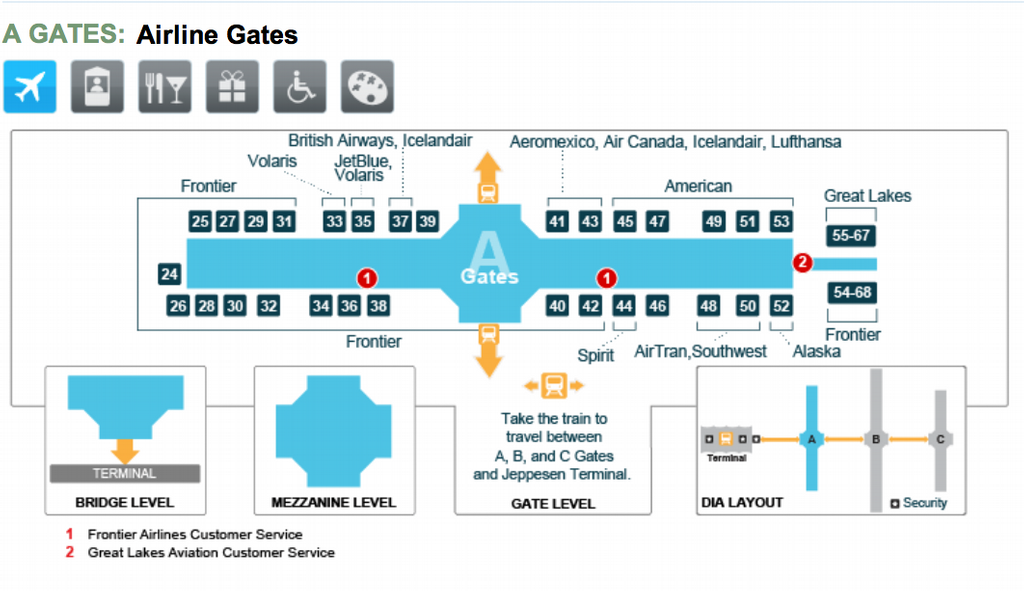 Denver Airport Gate Map | afputra.com