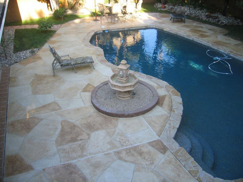 Picture: Stone Pool Deck.jpg provided by Modern Concrete Designz ...