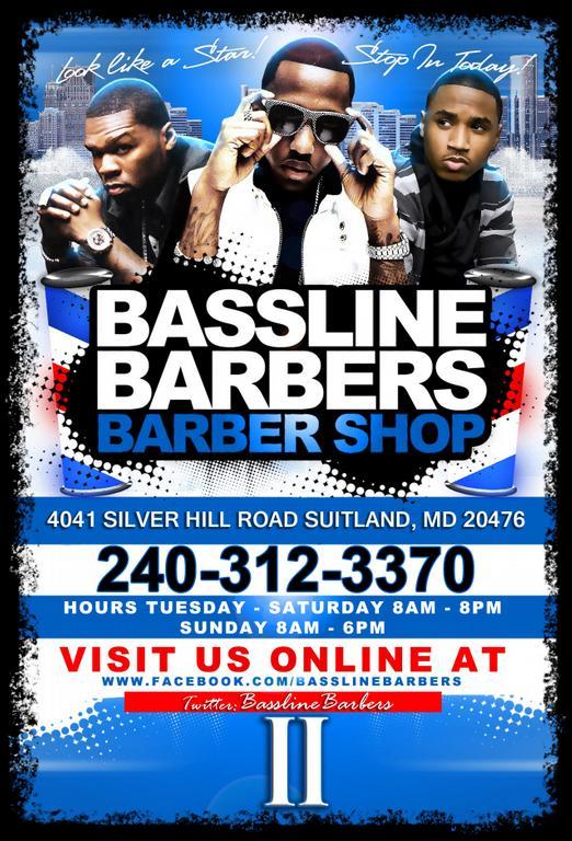 Bassline Barber Flyer II 4x6 from Bassline Barbers 2 Barbershop in ...