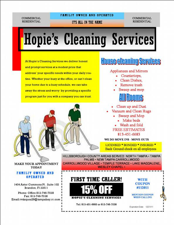 Flyer For Cleaning Services