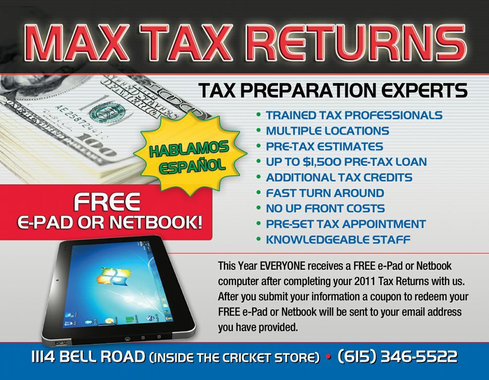 Tax Service Flyers Peopledavidjoel
