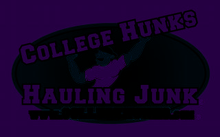 College Hunks Hauling Junk Logo Clipart Vector Design