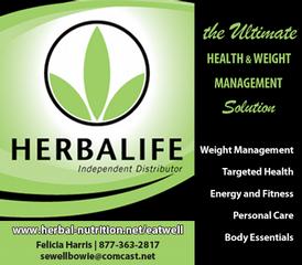 Herbalife-independent Distributor - Bowie MD 20716 | 301-744-8468
