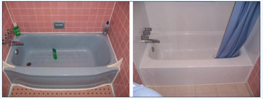 before after tub from Brite Bathtubs Refinishing & Reglazing in ...